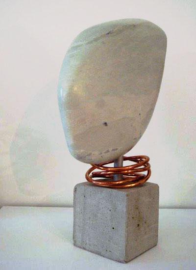 Speckstein Skulpturen von Brigitt Müller aus der Kunstreihe Kopfsteine