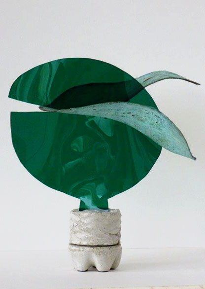 Kunstobjekt von Brigitt Müller aus der Kunstserie mixed media