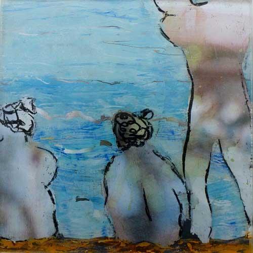 Gemälde von Brigitt Müller aus der Bilderserie in Bewegung